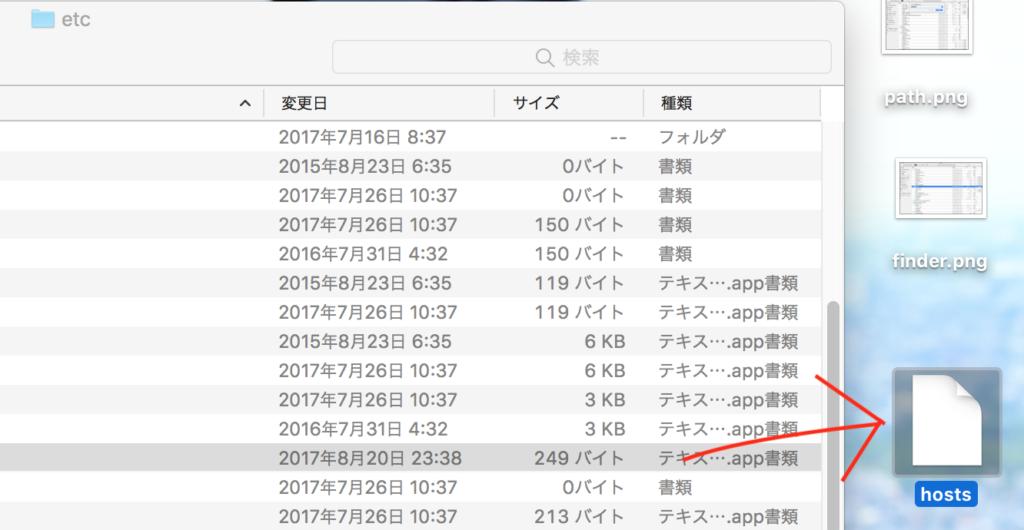 Macでhostsファイルを編集する